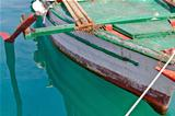Old wooden fishing boat detail
