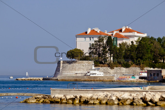 City of Zadar walls and waterfront