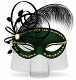 black-green half-mask