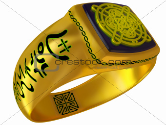 Fantastic fantasy a gold ring