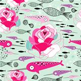 texture of roses and narwhals