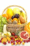 Fruits and berries in the basket