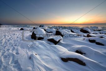 Winter seaside in Tuja