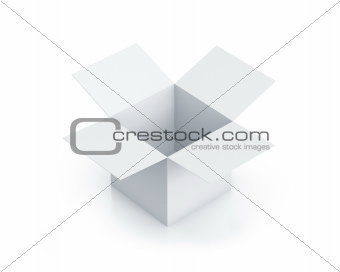 White cube box.