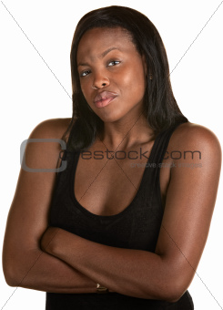Pouting African Woman