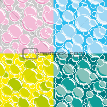 seamless vector bubbles