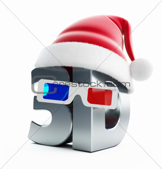 3d movie Christmas hat