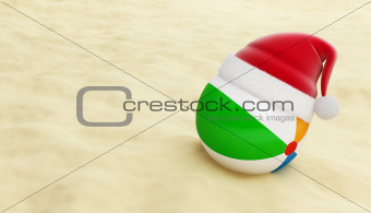 beach ball santa hat