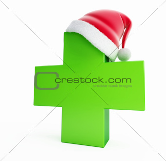 medical cross santa hat 