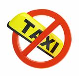 no taxi sign