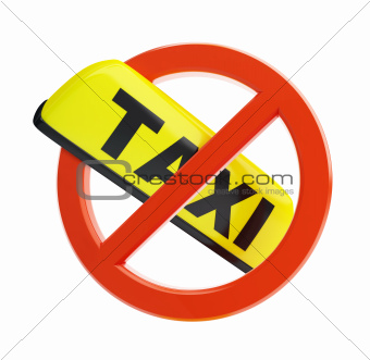 no taxi sign