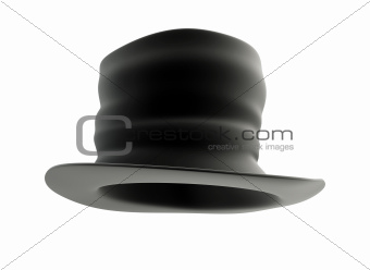 old Black top hat