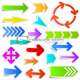 Colorful arrow stickers