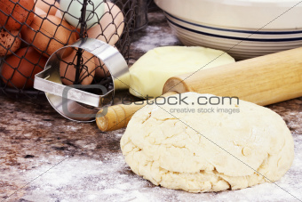 Bread Dough and Ingredients