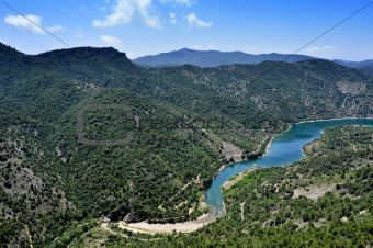 Siurana River in Tarragona Province, Spain