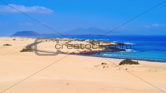 Natural Park of Dunes of Corralejo in Fuerteventura, Spain
