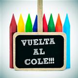 back to school written in spanish: vuelta al cole