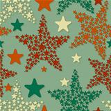 vector seamless pattern with christmas stars
