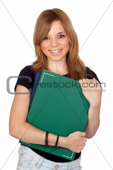 Blonde university girl