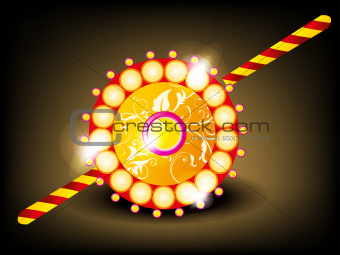 abstract tradistional rakhi