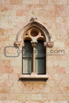castle's window at the wall
