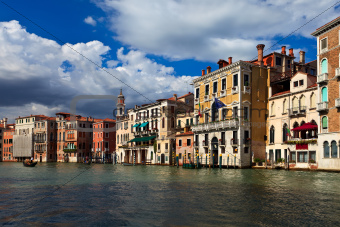 Beautiful buildings on main canal of Venice