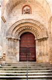 Wooden door of ancient church