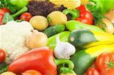 Organic Fresh Healthy Vegetables / Food Background