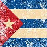 Cuba retro flag