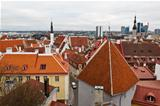 Panoramic View on Old Town of Tallinn from Above, Estonia