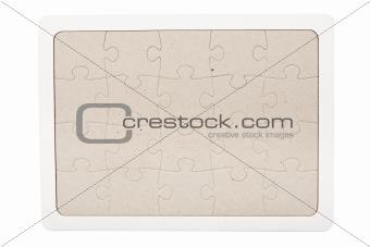 Gray cardboard jigsaw puzzle