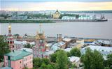 Summer july sunset in Nizhny Novgorod Russia
