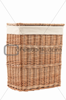 laundry basket made of rattan