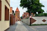 Gothic fortification tower in Lebork, Poland.