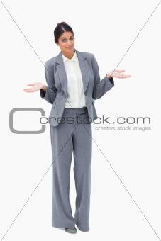 Saleswoman being clueless