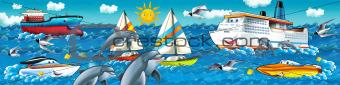 Cartoon seascape for children