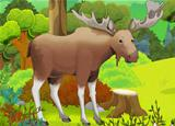 The moose in the wood