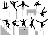 Parkour poses