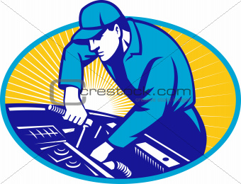 Auto Mechanic Car Repair Retro