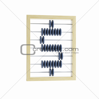abacus with dollar sign
