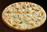 Pizza  quattro formaggi with special cheese - isolated