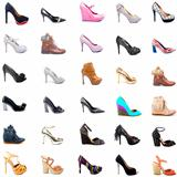 Ladies Shoes Collage