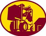 Forklift Truck Operator Retro