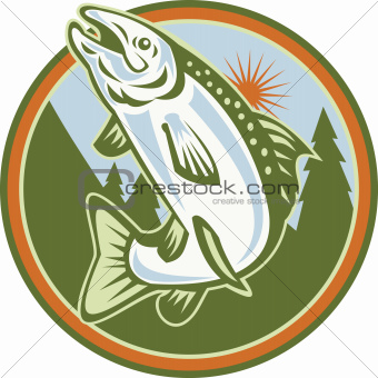 Spotted Speckled Trout Fish Jumping