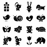 Baby icon set