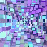 abstract fragmented pattern blue purple backdrop