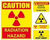 Radiation hazard signs