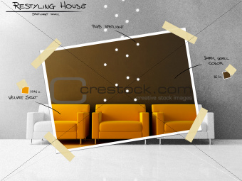 Yellow seat restyling project