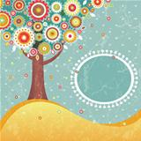 Abstract retro tree with place for text