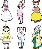 six little girls